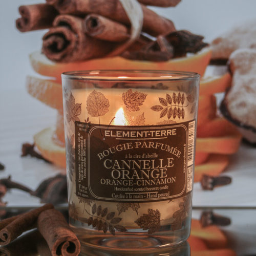 Bougie Cannelle orange 200g
